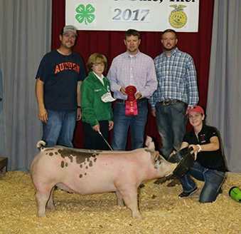 Fourth overall at the North Florida Youth Livestock Show. Abby Williams did  a great job with her gilt. ac4910fdbba6